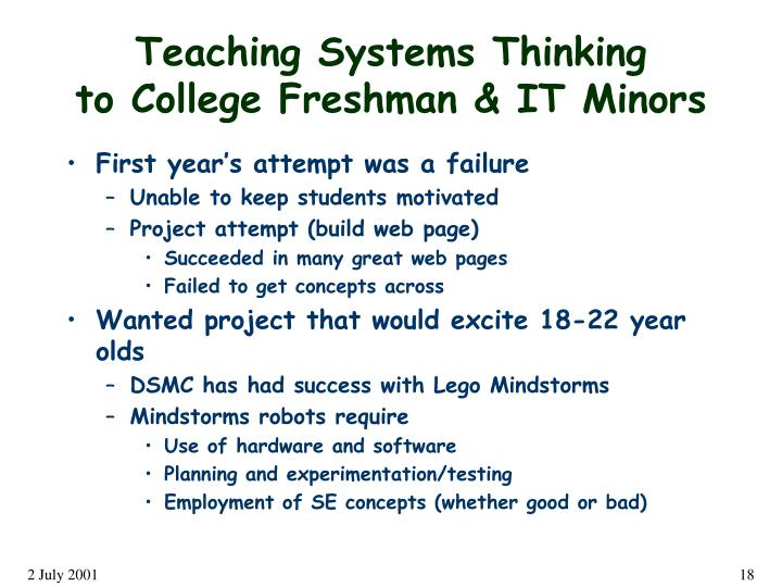 Teaching Systems Thinking