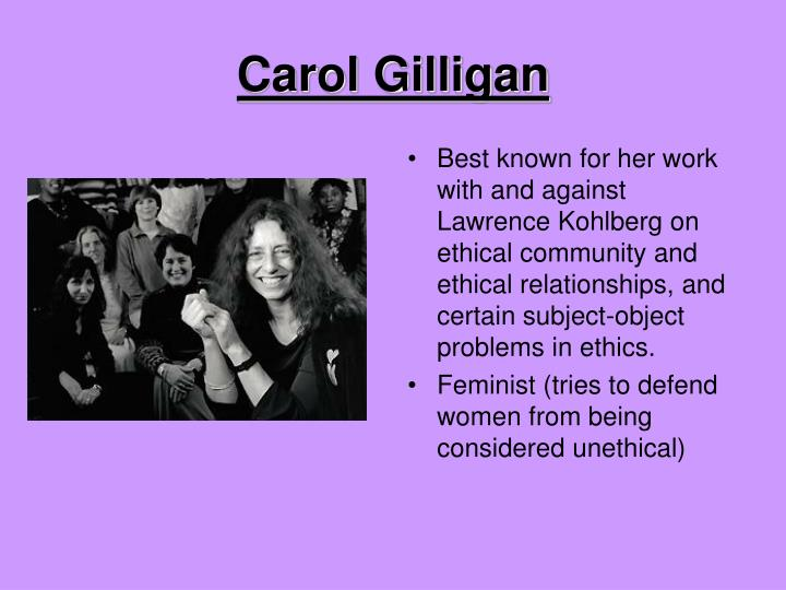an introduction to the great philosophy of feminism and the feminist theory by carol gilligan Introduction a brief history of feminism carol gilligan feminist philosophy feminist political theory.