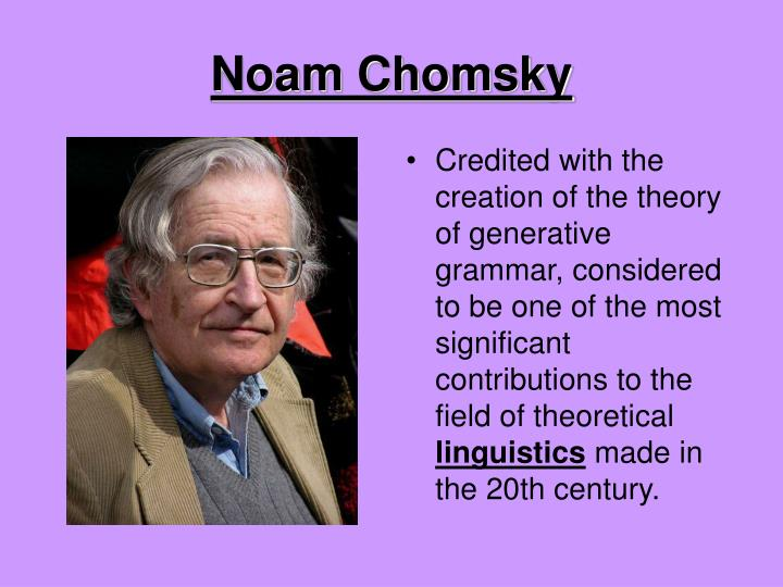 noam chomsky's theories