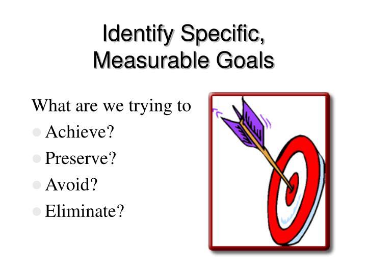 Identify Specific,
