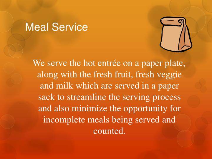 Meal Service