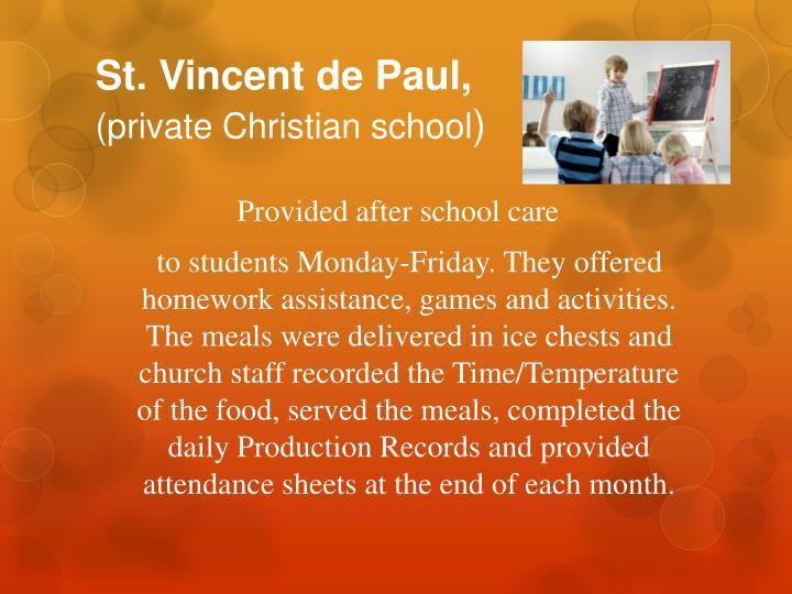 St. Vincent de Paul,
