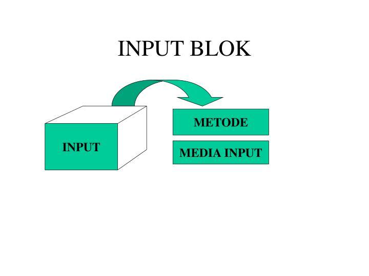 INPUT BLOK