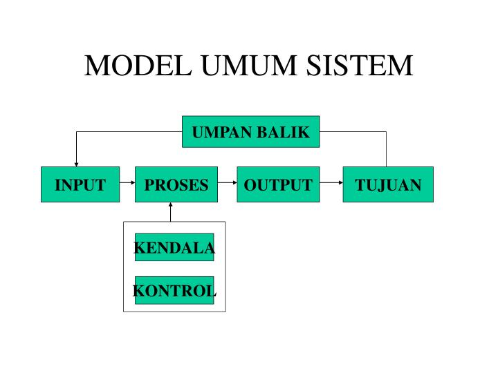 MODEL UMUM SISTEM