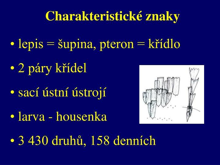 Charakteristické znaky
