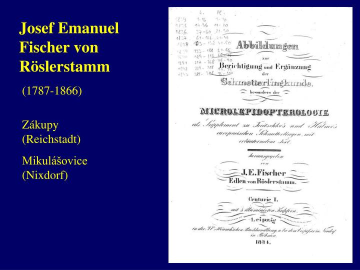 Josef Emanuel Fischer von R