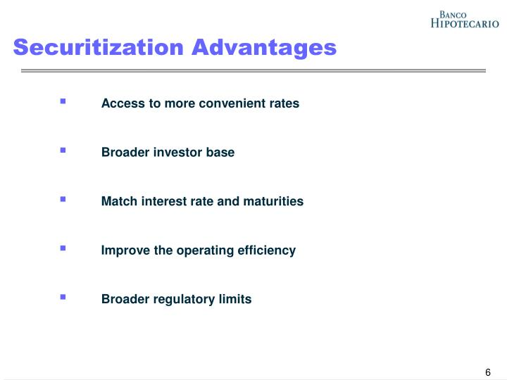 Securitization Advantages