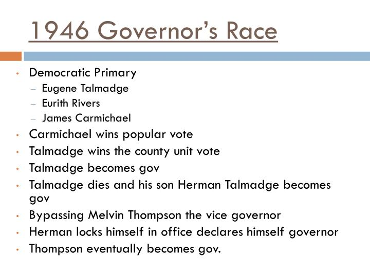1946 Governor's Race