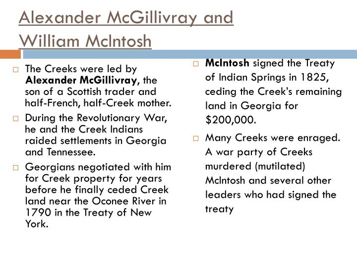 Alexander McGillivray and
