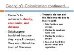 georgia s colonization continued