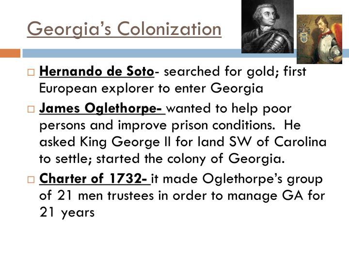 Georgia's Colonization