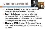 georgia s colonization
