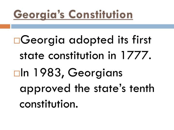 Georgia's Constitution