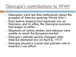 georgia s contributions to wwi