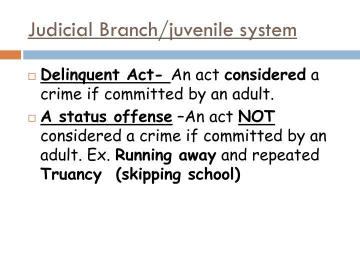 Judicial Branch/juvenile system