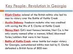 key people revolution in georgia