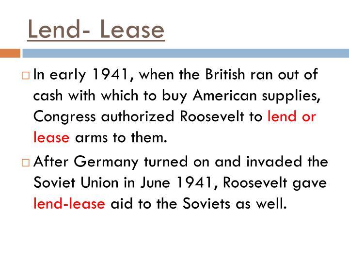 Lend- Lease