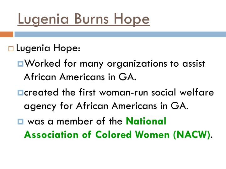 Lugenia Burns Hope