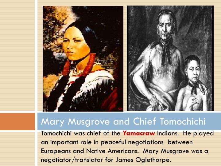 Mary Musgrove and Chief Tomochichi