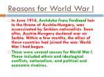 reasons for world war i
