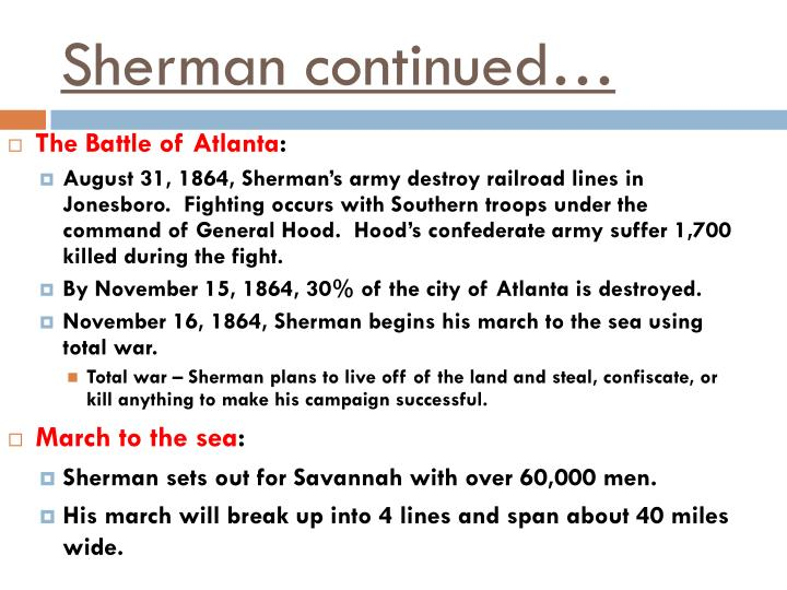 Sherman continued…