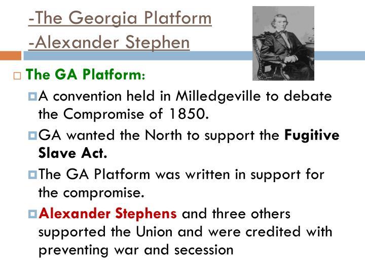 -The Georgia Platform