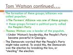 tom watson continued