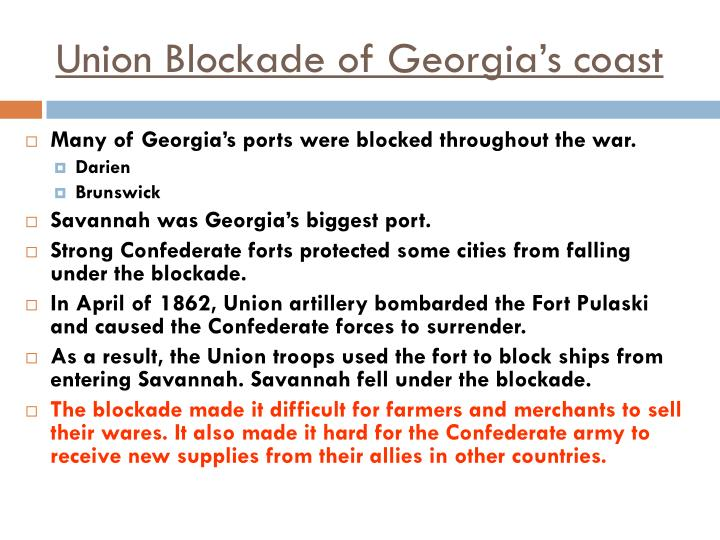 Union Blockade of Georgia's coast