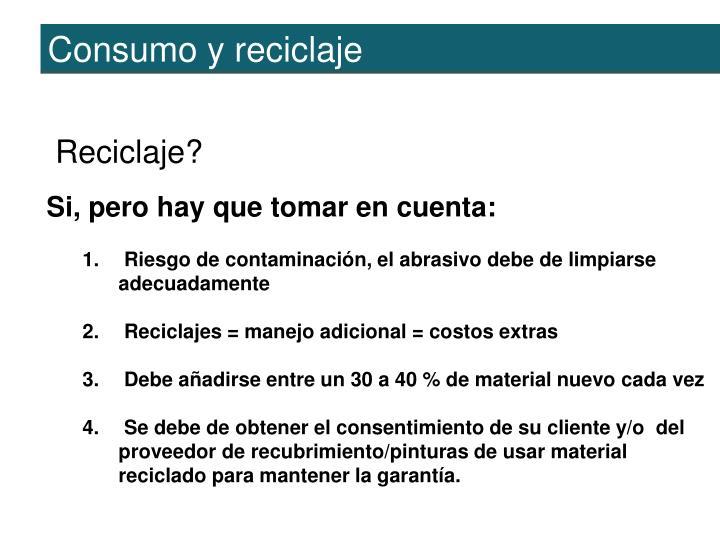 Consumo y reciclaje
