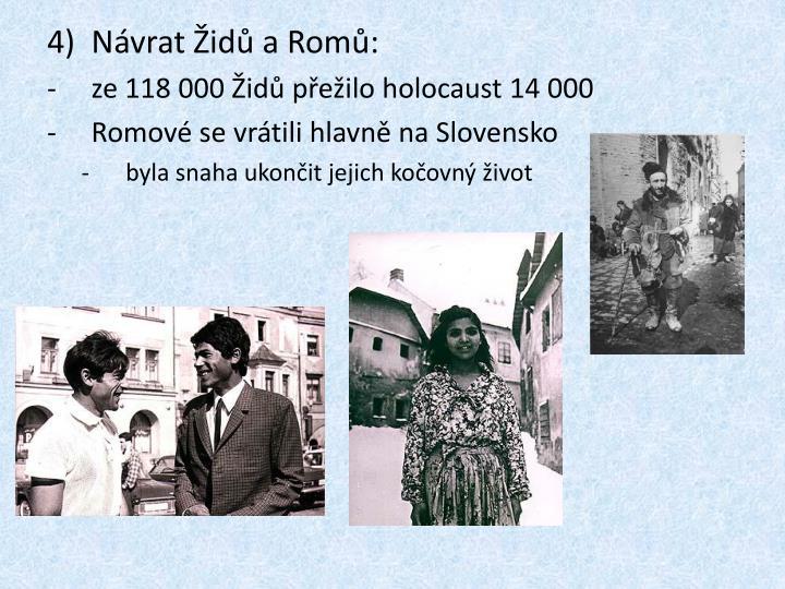 Návrat Židů a Romů: