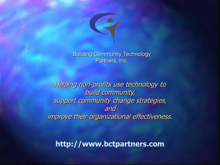 Building Community Technology