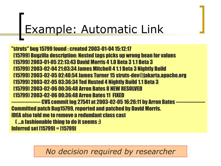 Example: Automatic Link
