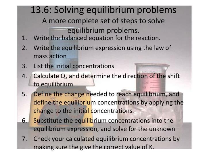 13.6: Solving equilibrium problems