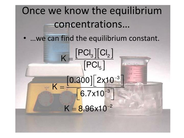 Once we know the equilibrium concentrations…
