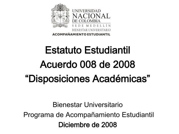 Estatuto Estudiantil