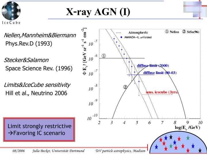 X-ray AGN (I)
