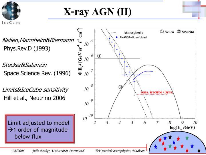 X-ray AGN (II)