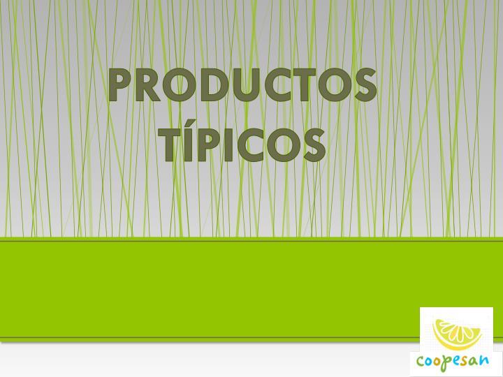 PRODUCTOS TÍPICOS