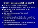 green house description cont d