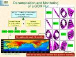 decomposition and monitoring of a gcm run