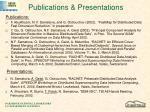 publications presentations