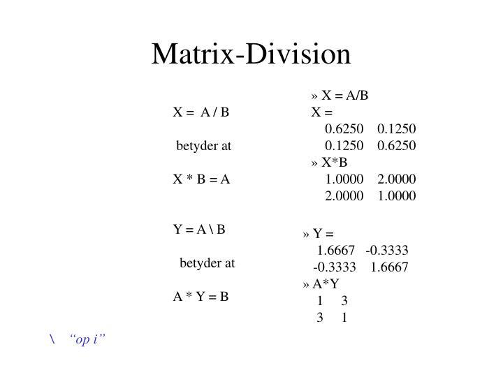 Matrix-Division