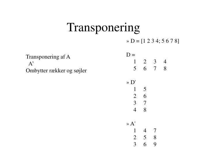 Transponering