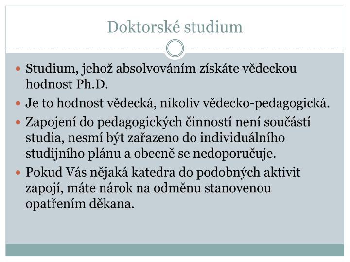 Doktorské studium