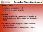 control de flujo condiciones1