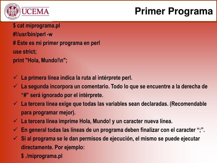 Primer Programa
