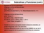 subrutinas y funciones cont1