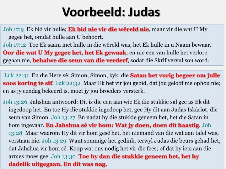 Voorbeeld: Judas