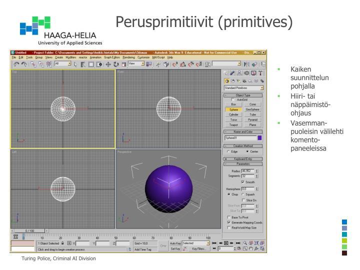 Perusprimitiivit (primitives)