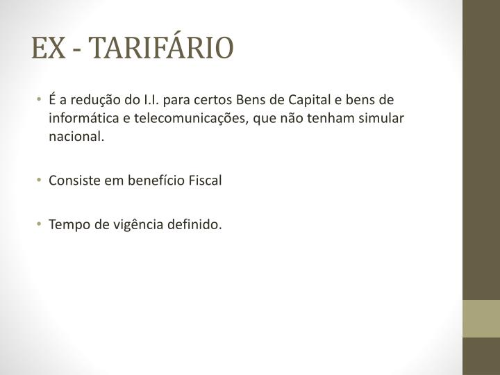 EX - TARIFÁRIO